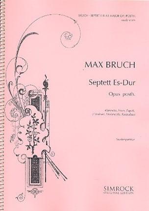 Septuor Mib Maj. Op.Posth. - Conducteur BRUCH Partition laflutedepan