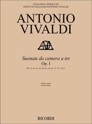 Antonio Vivaldi - Sonates Da Camera a tre, opus 1 - Partition - di-arezzo.fr