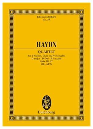 Streich-Quartett D-Dur op. 64 n° 5 HAYDN Partition laflutedepan