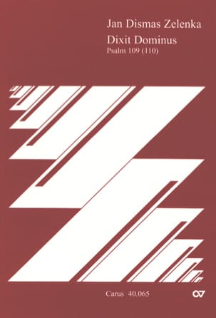 Dixit Dominus - Partitur ZELENKA Partition Grand format - laflutedepan