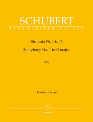 Symphonie N° 1 D. 82 - Partitur SCHUBERT Partition laflutedepan