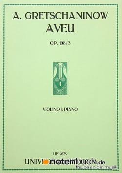 Aveu op. 108 n° 3 - Alexandre Gretchaninov - laflutedepan.com