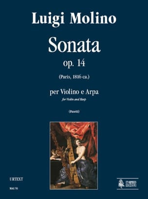 Sonata op. 14 - Violino e arpa - Luigi Molino - laflutedepan.com