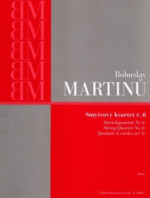 Quatuor à cordes n° 6 - Parties MARTINU Partition laflutedepan