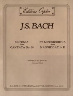 Sinfonia / Et Misericordia -2 Guitars - BACH - laflutedepan.com