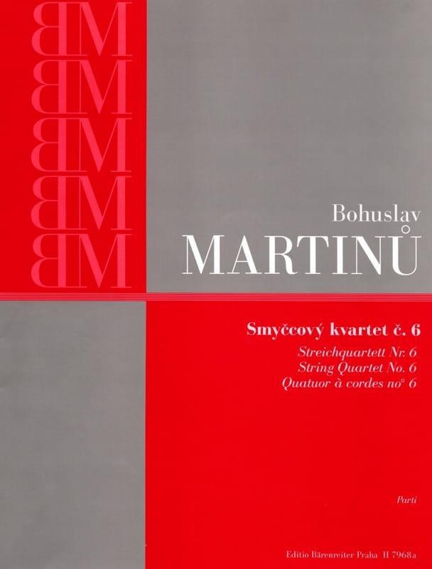 Quatuor à cordes n° 6 - Parties - MARTINU - laflutedepan.com