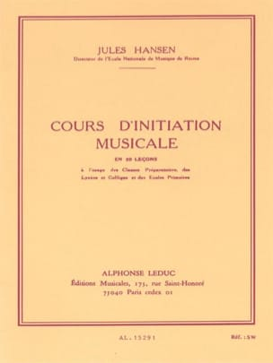 Cours d'initiation musicale Jules Hansen Partition laflutedepan