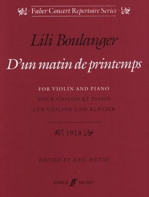 D'un matin de printemps Lili Boulanger Partition Violon - laflutedepan