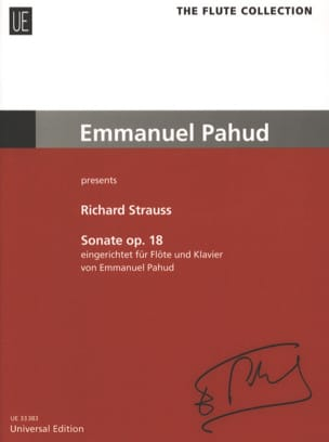 Sonate op.18 - Flöte Klavier Richard Strauss Partition laflutedepan