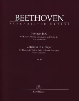 Concerto en Do Majeur pour Piano, Violon et Violoncelle et Orch. Op. 56 laflutedepan