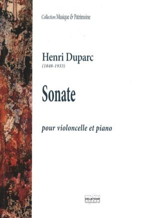 Sonate pour Violoncelle Henri Duparc Partition laflutedepan