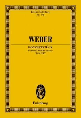 Carl Maria von Weber - Konzertstuck For Piano F-Moll Op. 79 - Partition - di-arezzo.co.uk