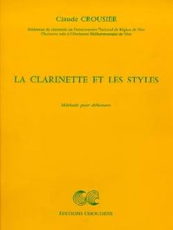 La clarinette et les styles Claude Crousier Partition laflutedepan