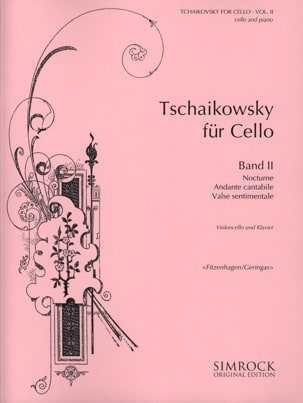 Tchaikovsky For Cello, Volume 2 TCHAIKOVSKY Partition laflutedepan