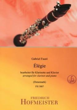 Elégie - Clarinette et piano FAURÉ Partition Clarinette - laflutedepan