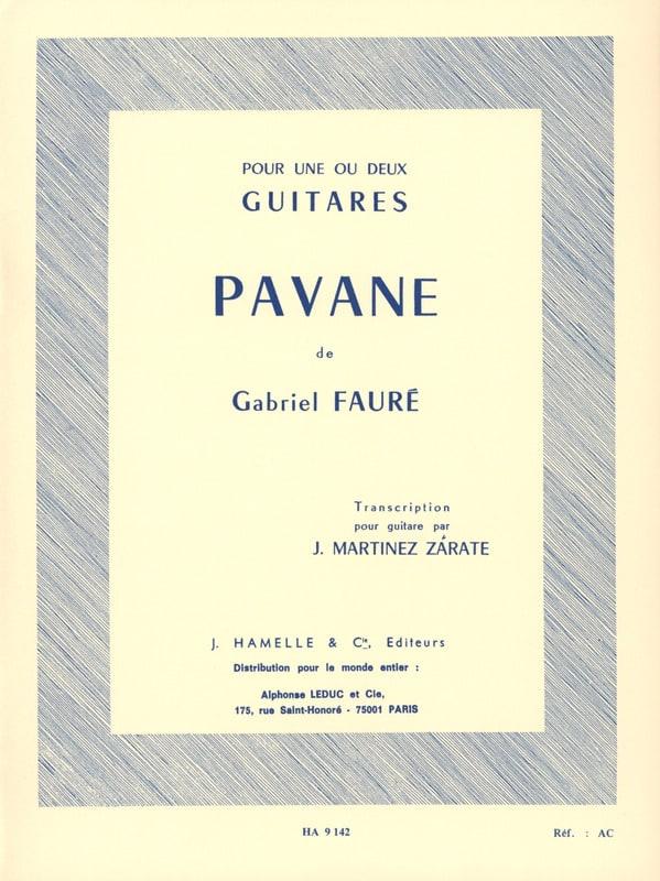 Pavane op. 50 -2 guitares - FAURÉ - Partition - laflutedepan.com