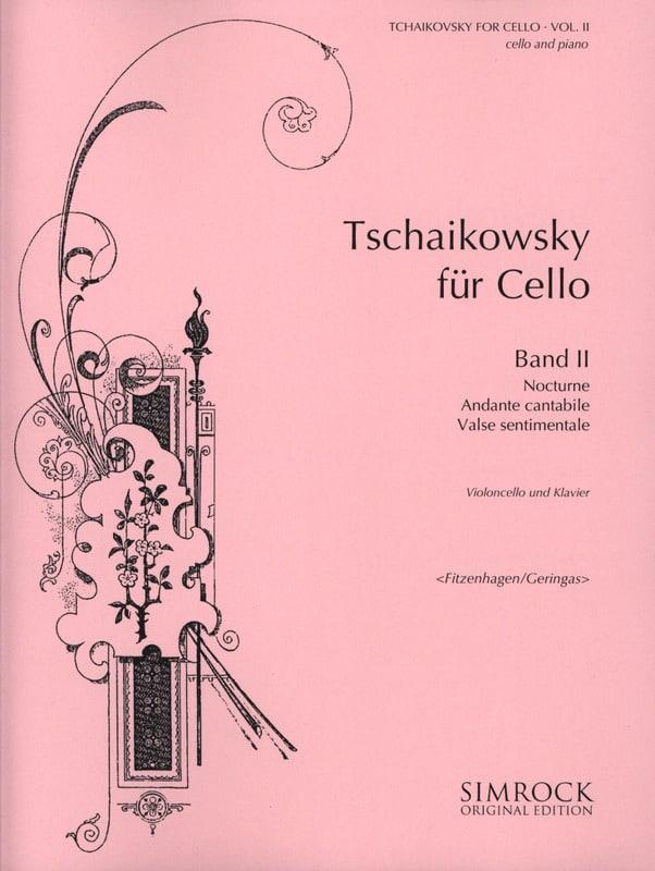 Tchaikovsky For Cello, Volume 2 - TCHAIKOVSKY - laflutedepan.com