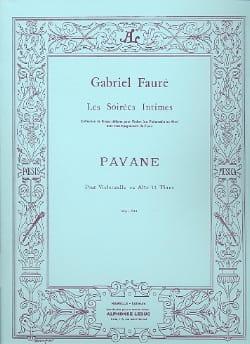 Pavane, op. 50 FAURÉ Partition Violoncelle - laflutedepan