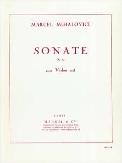 Sonate op. 59 - Marcel Mihalovici - Partition - laflutedepan.com