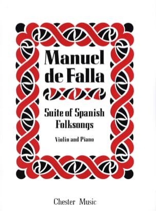 Suite of Spanish Folksongs DE FALLA Partition Violon - laflutedepan