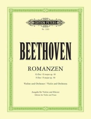 Romanzen - Violine Flesch BEETHOVEN Partition Violon - laflutedepan