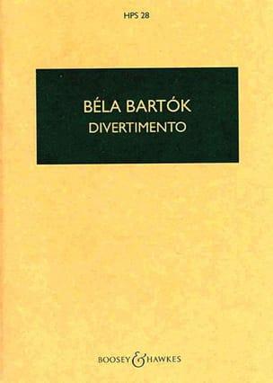 Divertimento - Conducteur BARTOK Partition Petit format - laflutedepan