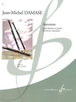 Automne Jean-Michel Damase Partition Basson - laflutedepan