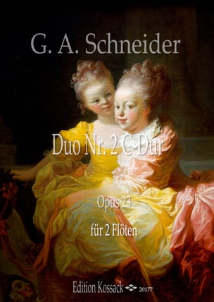 Duo opus 23 n° 2 Georg Abraham Schneider Partition laflutedepan