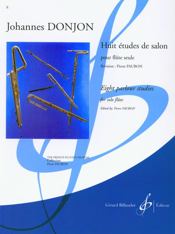8 Etudes de Salon - Johannes Donjon - Partition - laflutedepan.com