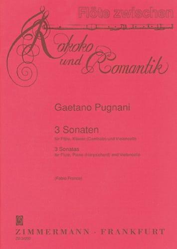 3 Sonaten -Flöte Cello Klavier - Gaetano Pugnani - laflutedepan.com