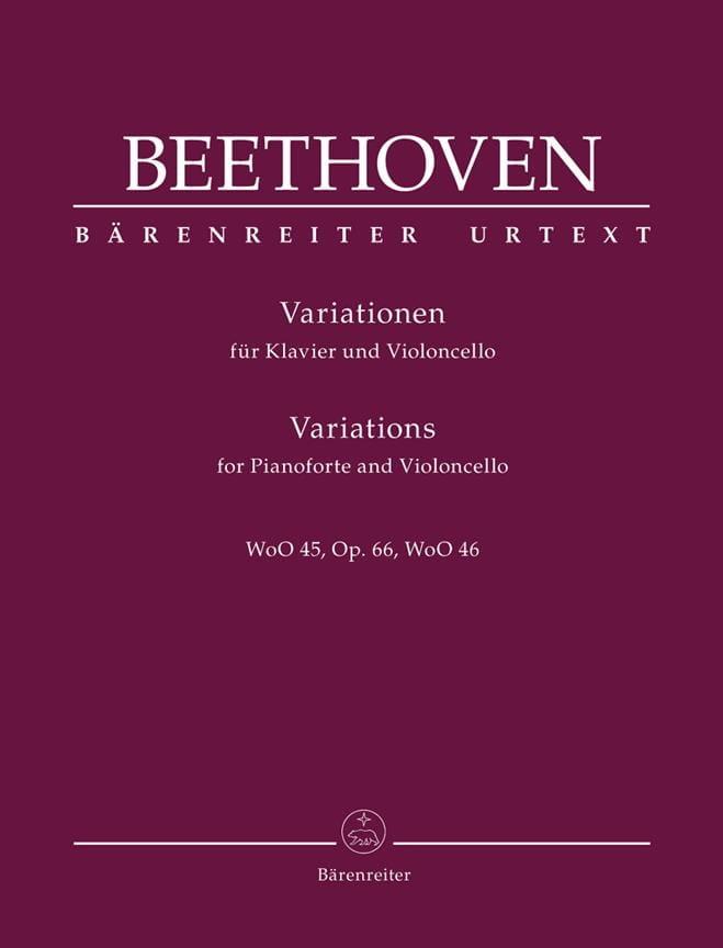 Variations Pour Violoncelle et Piano - BEETHOVEN - laflutedepan.com