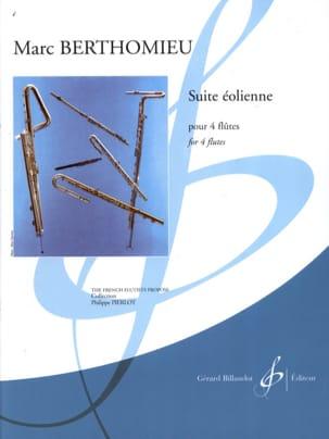 Suite éolienne - 4 Flûtes Marc Berthomieu Partition laflutedepan