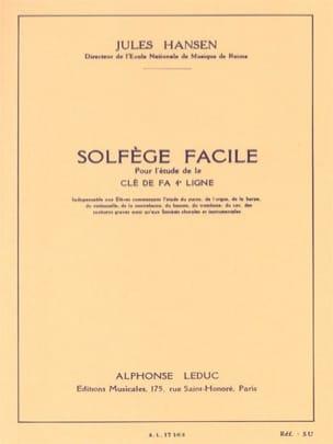 Solfège facile Clé de Fa Jules Hansen Partition laflutedepan