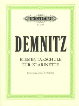 Méthode Elémentaire pour Clarinette Friedrich Demnitz laflutedepan