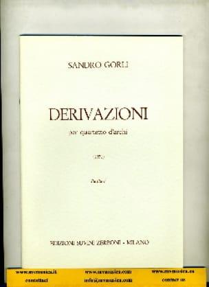 Derivazioni - Sandro Gorli - Partition - laflutedepan.com