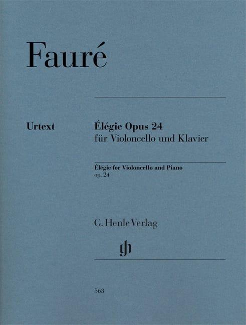 Élégie - FAURÉ - Partition - Violoncelle - laflutedepan.com
