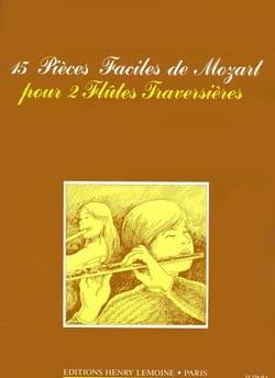 15 Pièces faciles - 2 Flûtes MOZART Partition laflutedepan