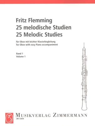 25 Melodische Studien - Oboe -Bd. 1 Fritz Flemming laflutedepan