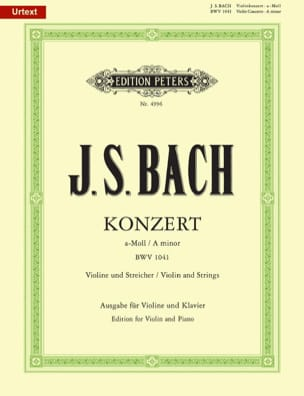 Konzert a-moll BWV 1041 - Violon BACH Partition Violon - laflutedepan