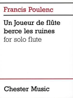 Un joueur de flûte berce les ruines POULENC Partition laflutedepan