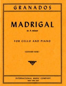 Madrigal in A minor GRANADOS Partition Violoncelle - laflutedepan