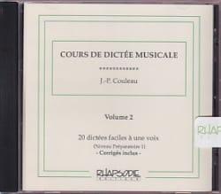 Jean-Pierre Couleau - CD - Musical Dictation Course - Volume 2 - Partition - di-arezzo.com