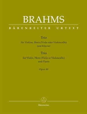 Trio Op. 40 BRAHMS Partition Trios - laflutedepan