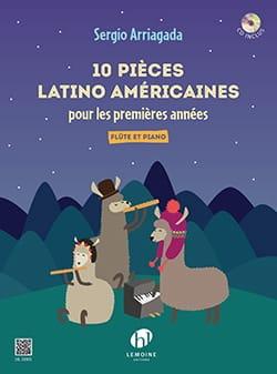 10 pièces Latino-Américaines Sergio Arriagada Partition laflutedepan