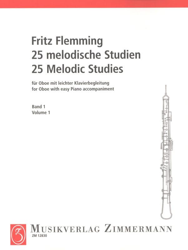 25 Melodische Studien - Oboe -Bd. 1 - laflutedepan.com