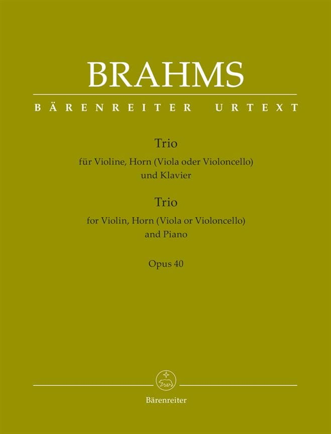 Trio Op. 40 - BRAHMS - Partition - Trios - laflutedepan.com