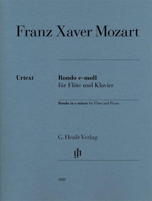 Rondo en mi mineur pour flûte et piano - laflutedepan.com