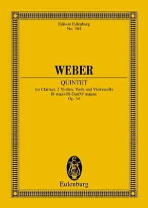 Quintette en Sib Majeur Op. 34 Carl Maria von Weber laflutedepan