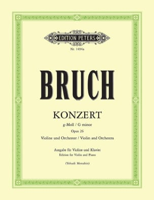 Max Bruch - Concerto No. 1 Op. 26 Sol Minor - Partition - di-arezzo.com