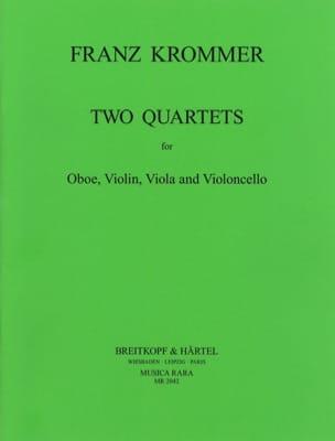 2 Quartets in C and F - Oboe violin viola cello KROMMER laflutedepan